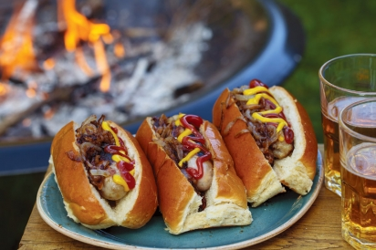 hotdogs from the campfire