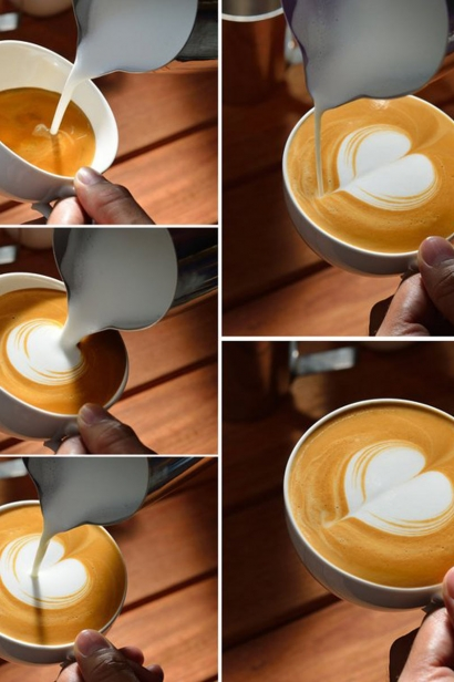 steps to heart cappuccino