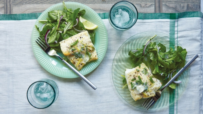broiled grouper with lemon