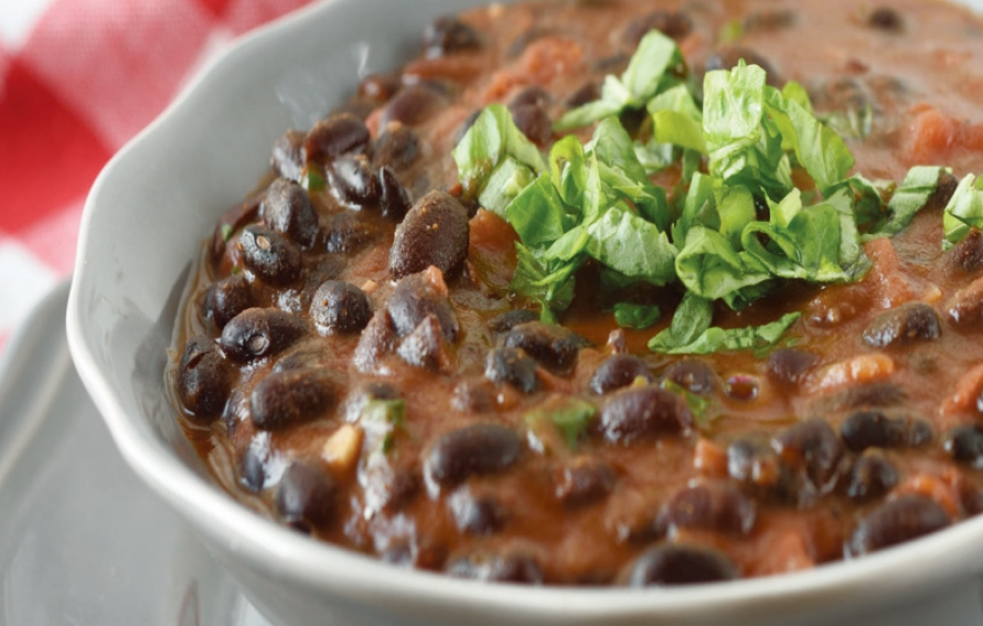 Spicy Slow Cooker Black Bean Soup Recipe Edible Chicago